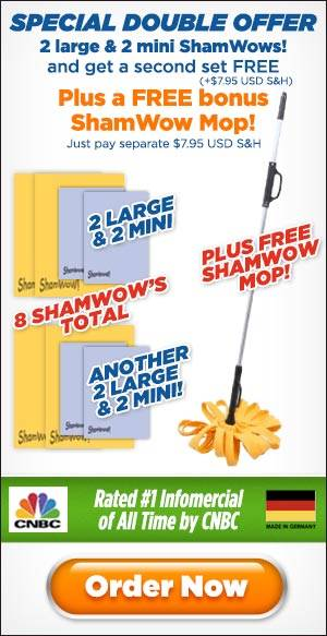Fill Out The Form Below To Order Your ShamWow Now! This Offer Is Not Available In Stores!